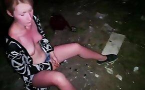 Dude Abusing A Very Drunk Teen Slut