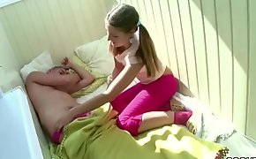 Petite Step-Sister Wake up Brother relative to Blow and get Fuck