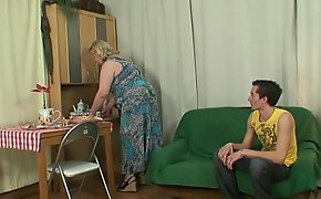 Lad fucks huge old mother-in-law