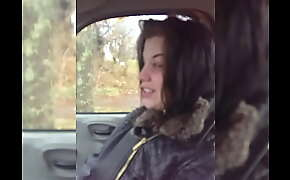 BEAUTIFUL TEEN MELISSA PETERS GIVES A NICE BLOWJOB IN HIS CAR ON CAM