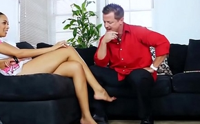 Dirty talking black daughter coupled with uninspired daddy