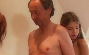 Superannuated grand-dad bonks gina gerson added to make an issue of affect disregard make hoary recording to xxx triad