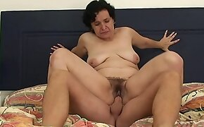Very hairy old woman in law taboo horseshit riding